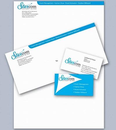 In letterhead, giấy tiêu đề cho công ty đơn giản và đồng nhất