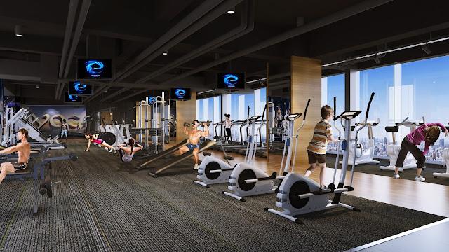 Phòng tập Gym chung cư Hateco Apollo