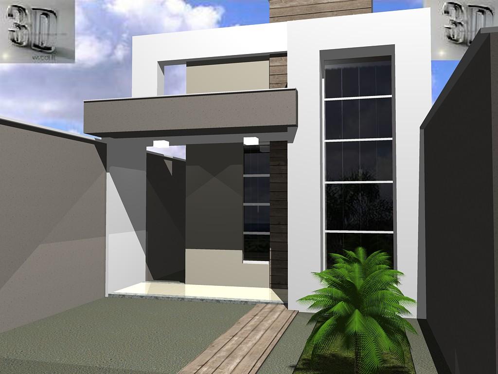 3danilo maquetes eletr nicas 3d fachadas de casas for Fachadas de casas modernas de 6 metros