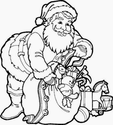 Coloring Pages Of Santa Claus For Kids 3
