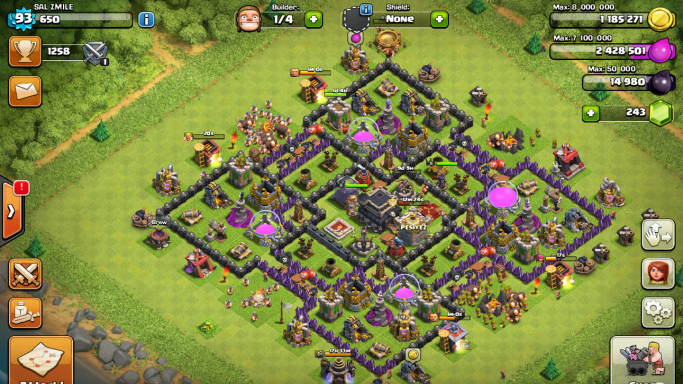 free clash of clans account top level 100