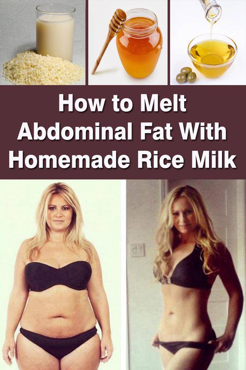 How to Melt Abdominal Fat With Homemade Rice Milk