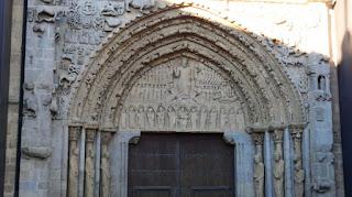 Sangüesa. Portada románica de Santa María la Real.