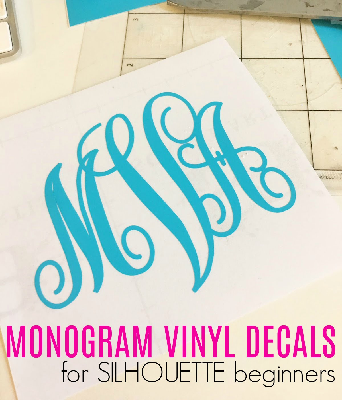 How To Cut A Vinyl Monogram With Silhouette CAMEO Silhouette School - How to make vinyl decals with silhouette