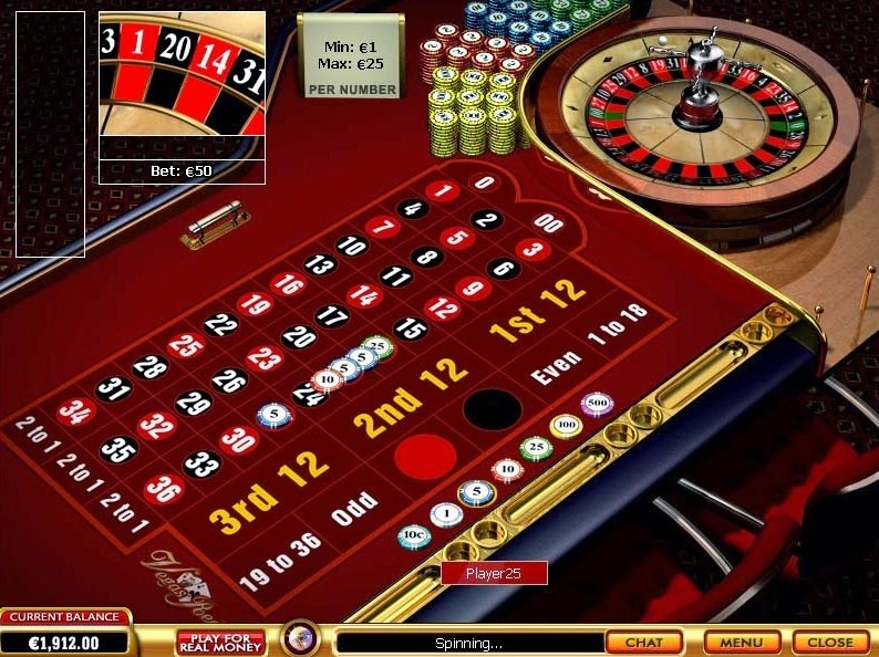 Vegas Red Roulette Screen