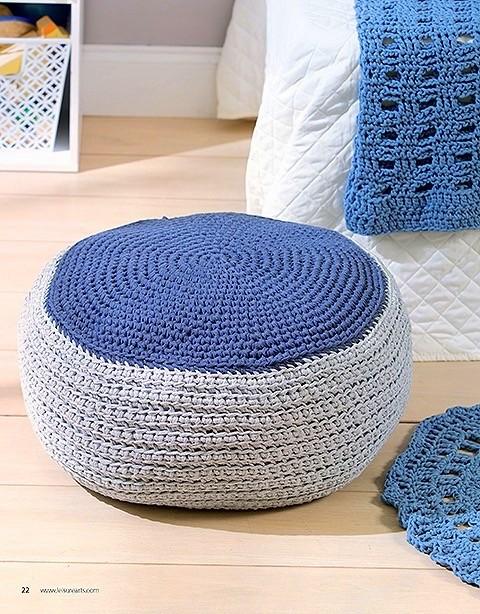tshirt yarn Pouf crochet pattern