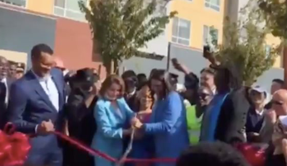 Life Imitates Art': Watch Pelosi Fail To Cut Red Tape...Literally