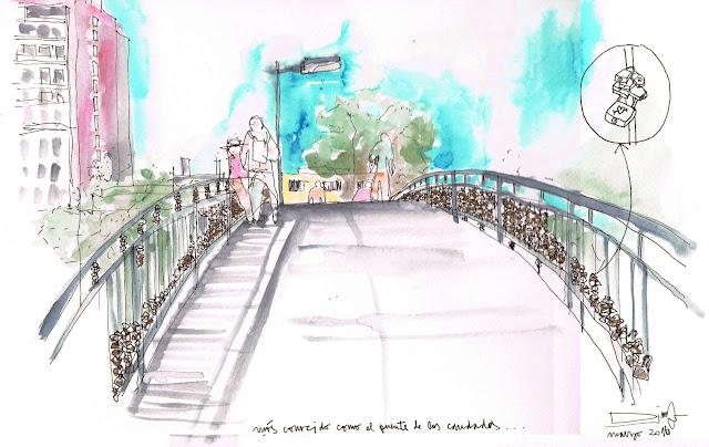 Puente Racamalac, Croquis de Daniela Monterrosa