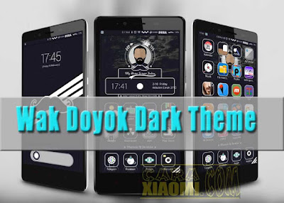 download Tema WakDoyok Dark For MIUI Xiaomi Android