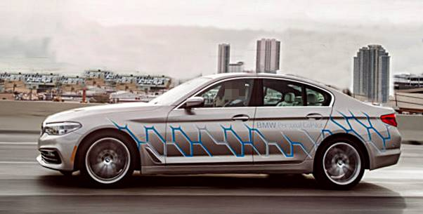 BMW 5 Series Autonomous Prototype Test Drive At CES 2017