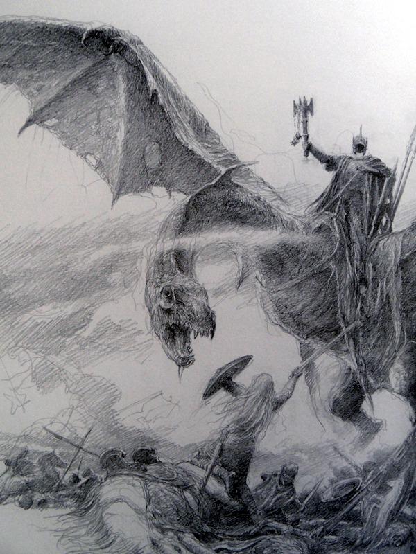 Dibujo: ¿Línea y contraste?: Alan Lee - From LotR sketchbook