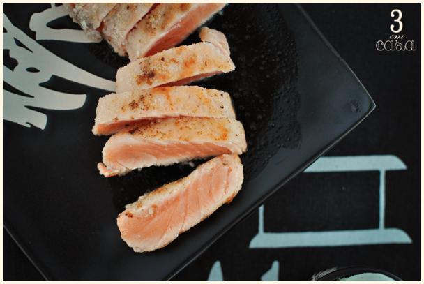 receita de sashimi de salmão grelhado