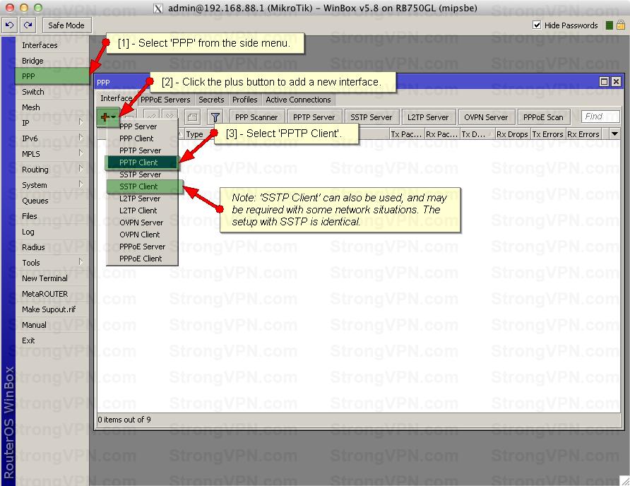 Mikrotik vpn configuration step by step