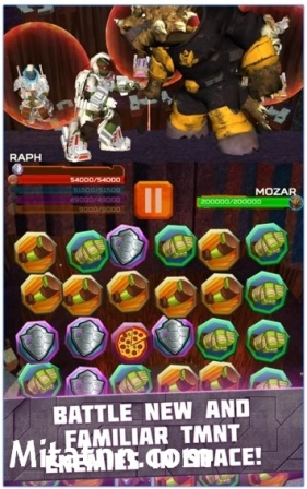 Game Action Puzzle Android Seru TMNT Battle Match MOD APK