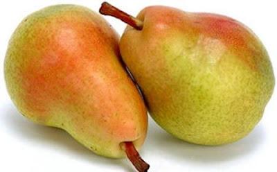 Foto de hermosas peras maduras