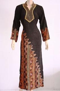 Gamis Batik Kombinasi Cantik