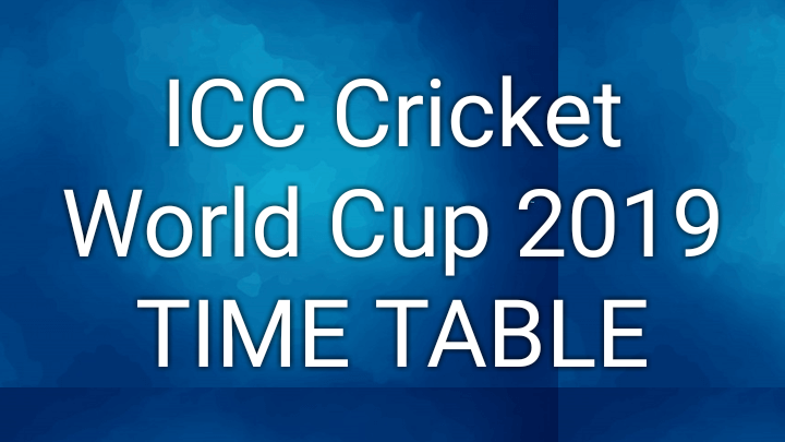 ICC Cricket World Cup 2019 Schedule PDF Download