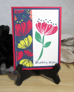 Card made with Stampin'UP!'s Happiness Blooms DSP and Bloom by Bloom stamp set
