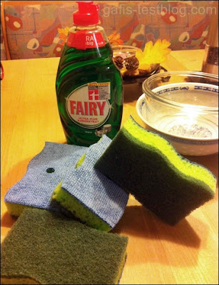 Fairy Ultra Plus und Dosierschwämme