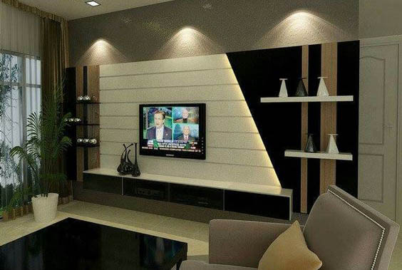 Superior Modern TV Cabinets Designs 2018 2019 For Living Room Interior Walls