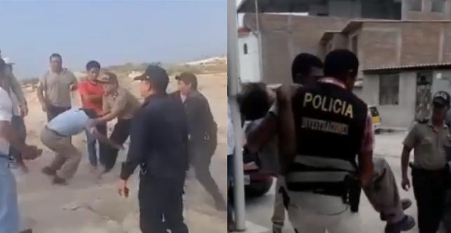 Anciano de 75 años es arrastrado por policías durante intervención y termina en el hospital| VÍDEO