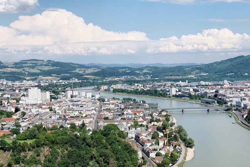 Blick auf Urfahr & Linz, Franz-Josefs-Warte