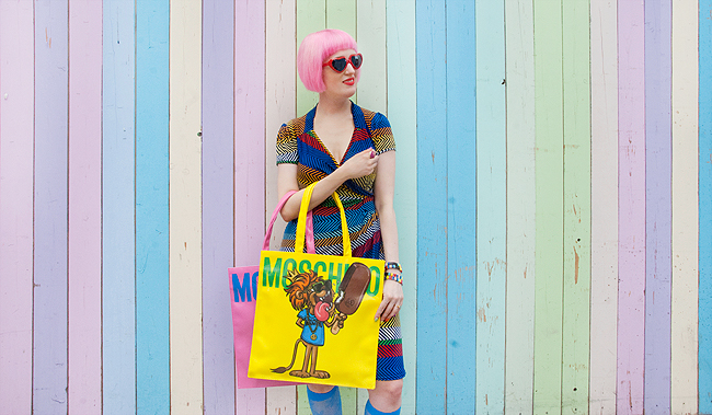 Moschino x Magnum, giveaway, rainbow look