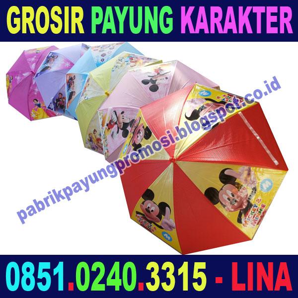 Jual Payung Karakter untuk Souvenir Kelahiran atau Ulang Tahun Anak