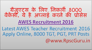 AWES Recruitment 2016