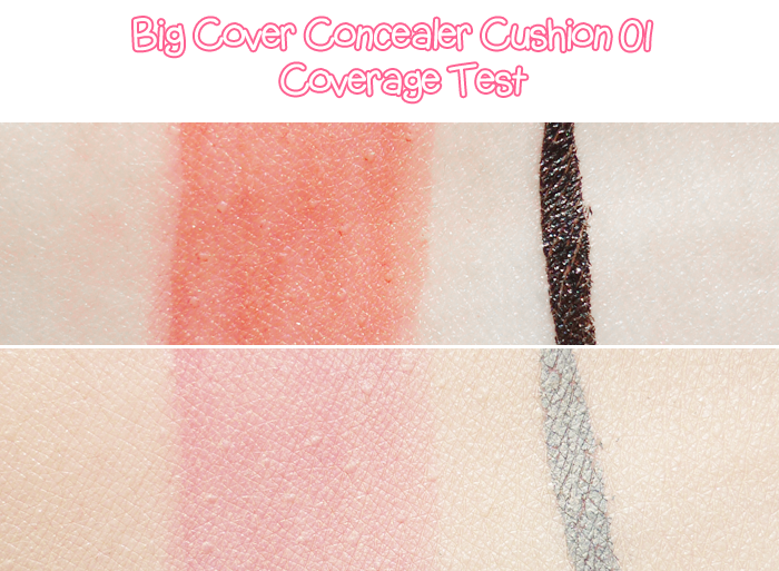 Etude House Pink Bird Box Big Cover Concealer Cushion SPF 30 PA++ 01 Peach Pink Review and Swatches