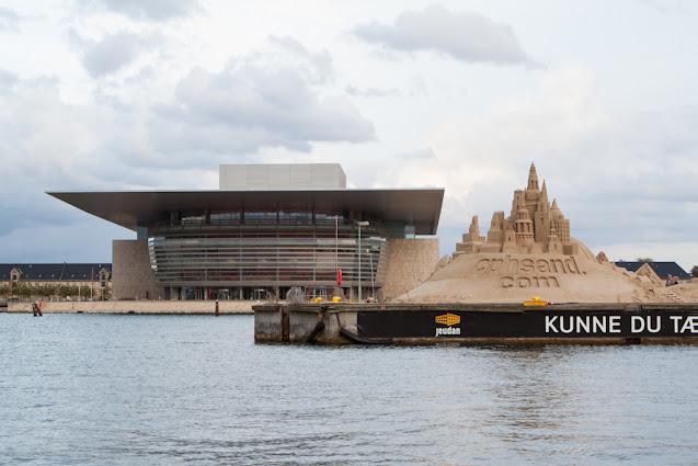 Crociera sui canali di Copenhagen-Teatro dell'Opera e castelli di sabbia