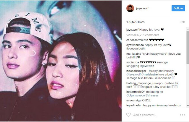 James Reid Celebrates First Anniversary with Nadine Lustre on Social Media! Check This Out!