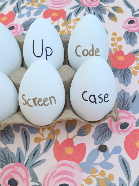 Easy Easter Egg Decorating - Crack up and Crack the case - www.jacolynmurphy.com