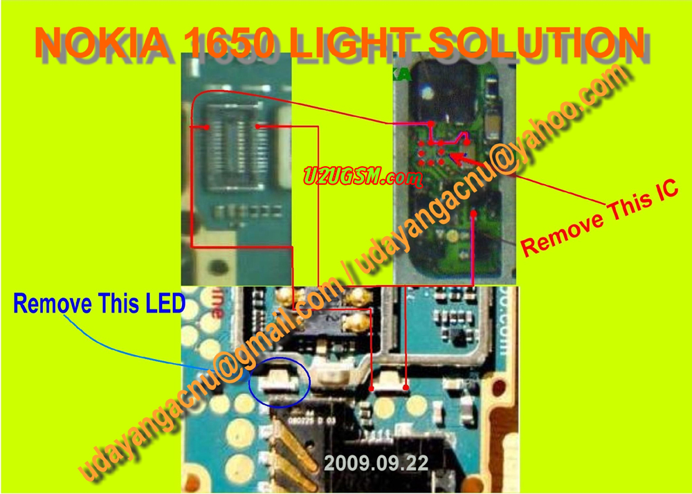 Cell Firmware: Nokia 1650 Light Problem Light Jumpers Light Solutions Light Ways White Screen By