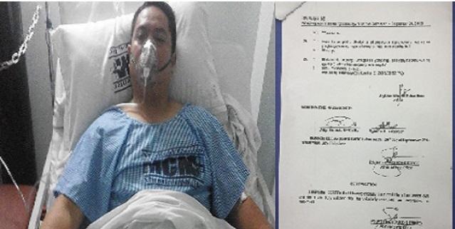 JAYBEE SEBASTIAN FINALLY SIGNED AFFIDAVIT WHILE RECOVERING IN HOSPITAL
