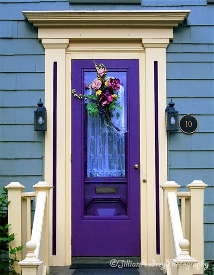beautiful mozaic violet painting interior doors | Queen Anne Victorian: