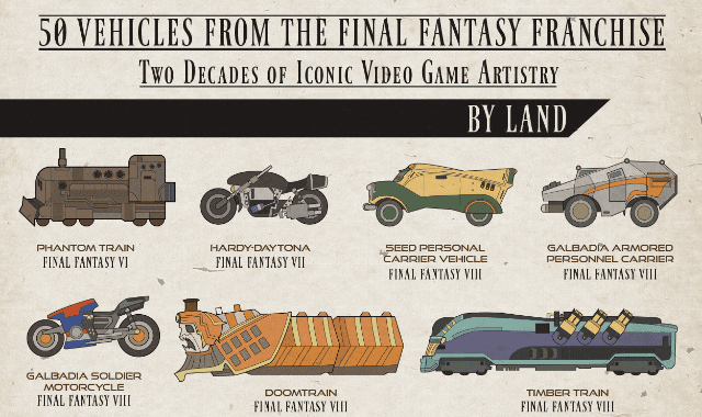 50 Vehicles From The Final Fantasy Franchise
