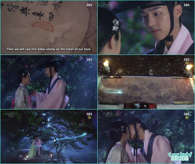 lee gyeom and saimdang kiss on the  mountain - Romantic Moments & Kisses of Lady Shin & lee Gyeom - Saimdang, Light's Diary