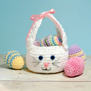 Crochet bunny Easter basket