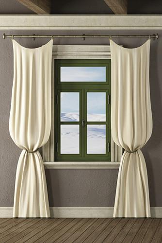 3D modern white window curtain designs