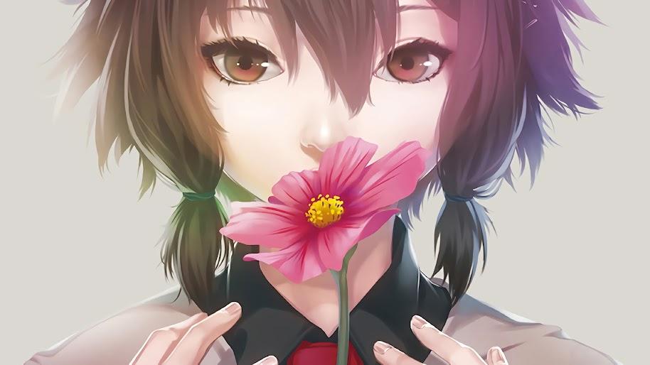 Anime, Girl, Flower, 4K, 3840x2160, #48