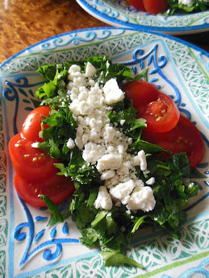 Simple Parsley Salad, delicious things come in plain packages!