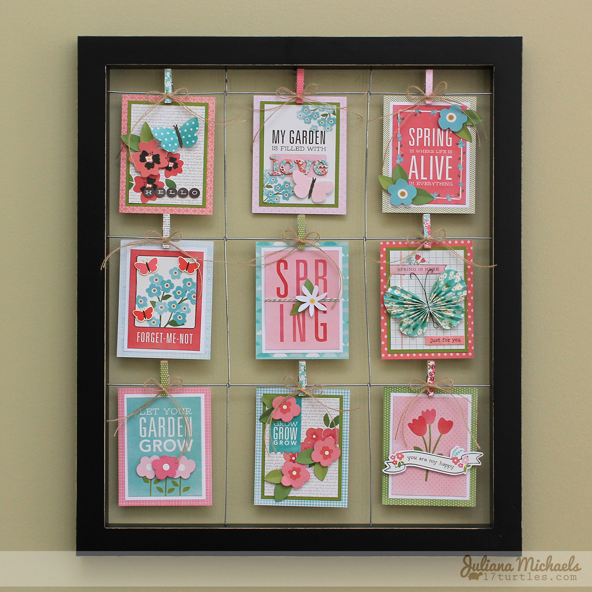 Hello Spring Wall Decor by Juliana Michaels featuring Pebbles Inc