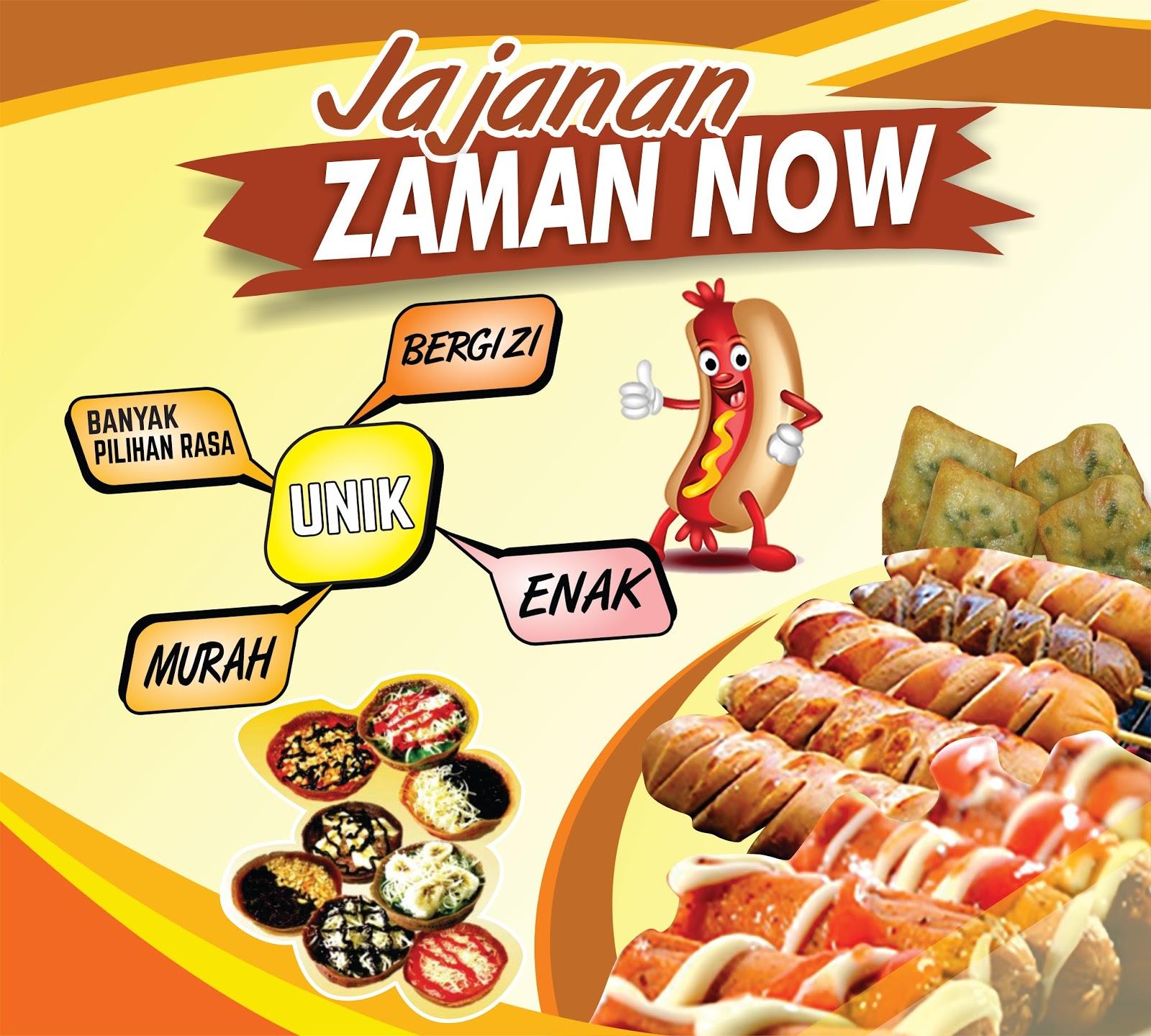 Desain Banner Makanan Unik