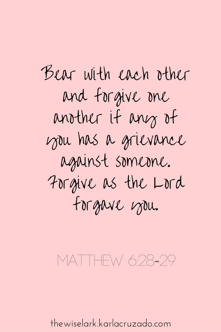 Bible verse - Colossians 3:13