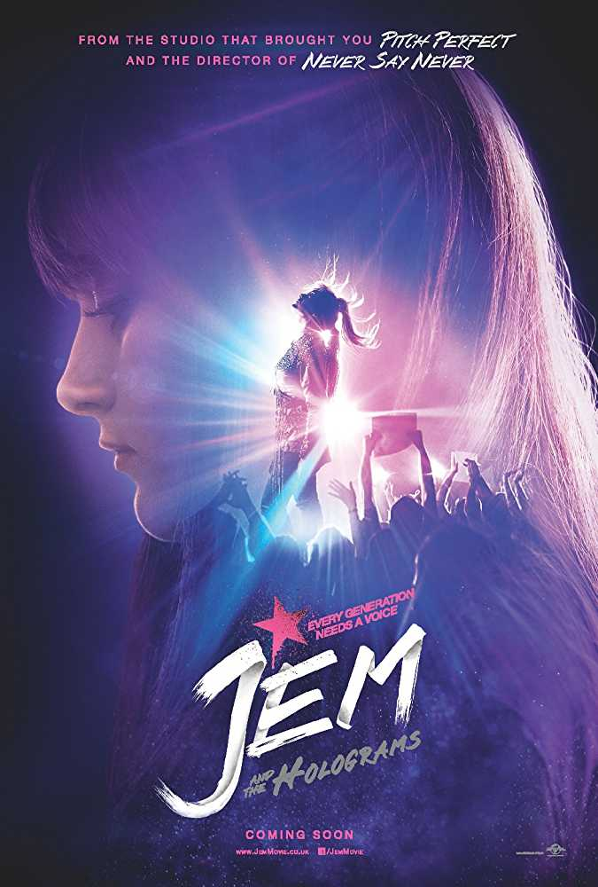 Poster Jem And The Holograms 2015 Movie Dual Audio Hindi Free Download 300Mb