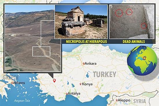 Localização Portal de Hades Turquia