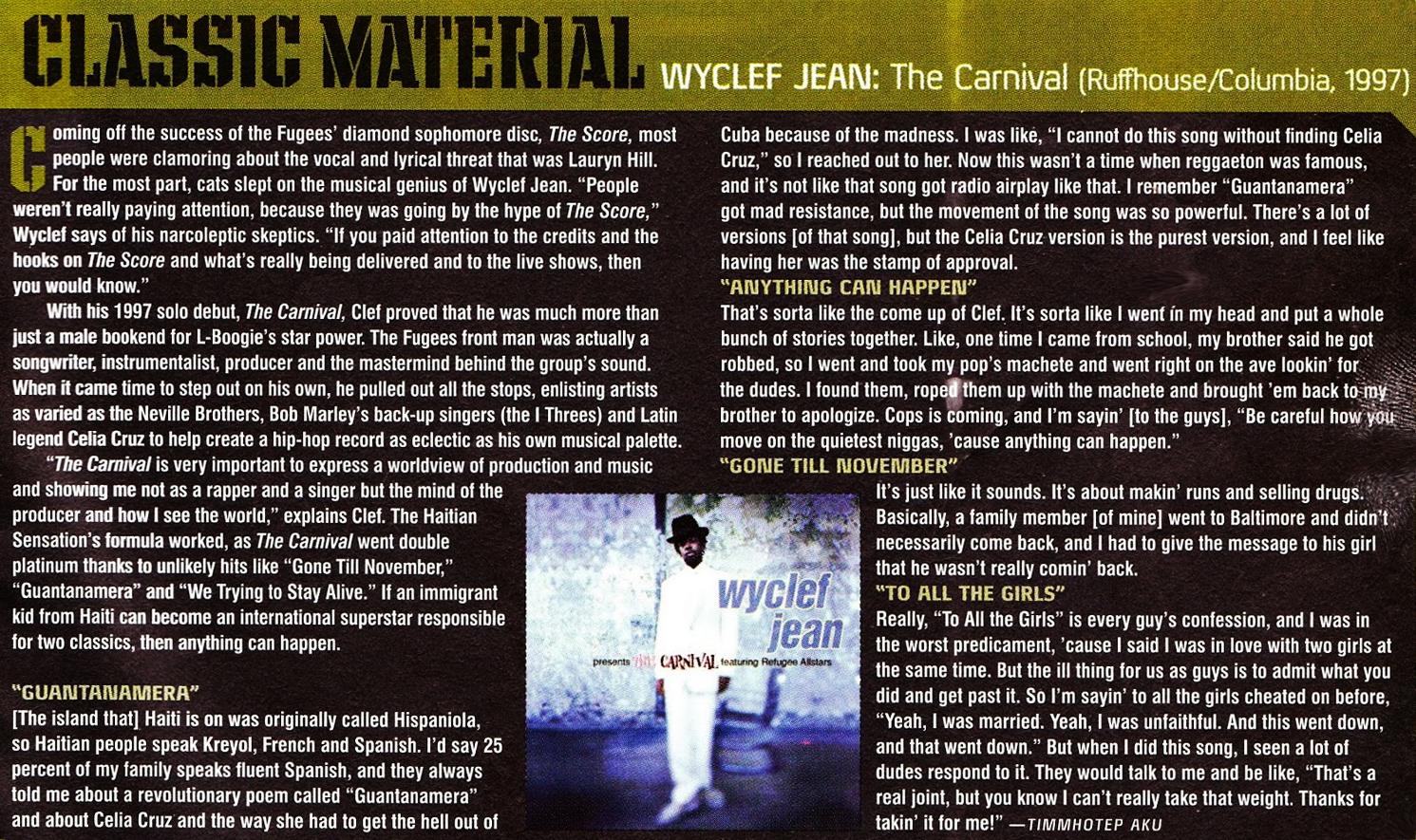Hip-Hop Nostalgia: Wyclef Jean