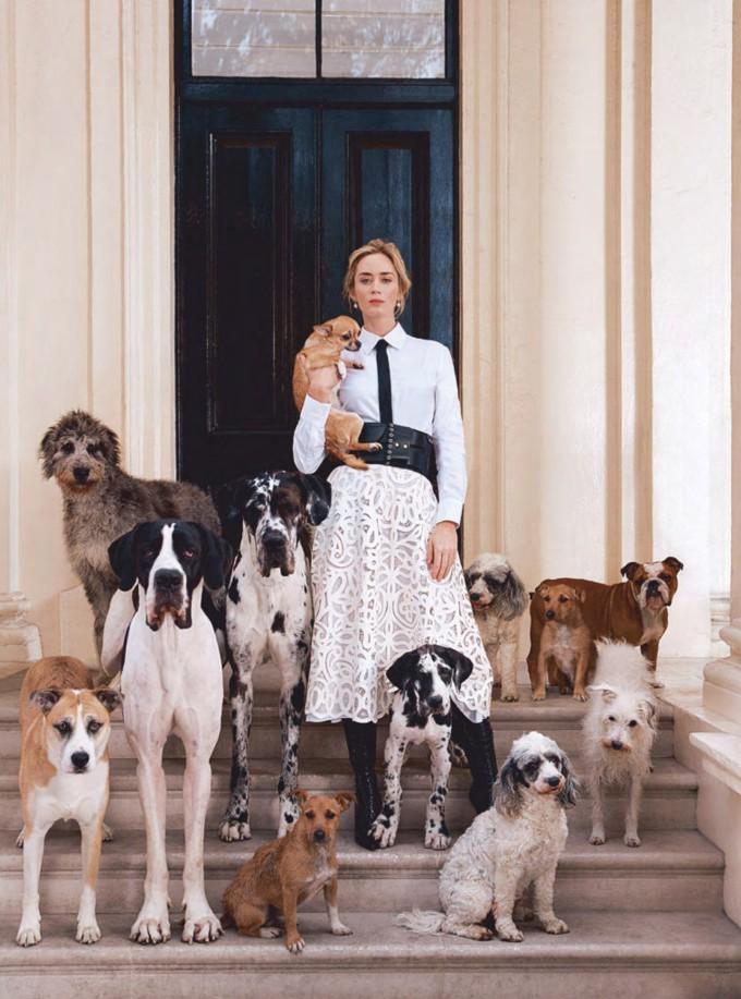 Emily Blunt como Mary Poppins na Harper's Bazar UK