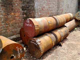 Crank Shaft Pins, Round Bars, Crank Pins or better known as Pins in the ship breaking world.